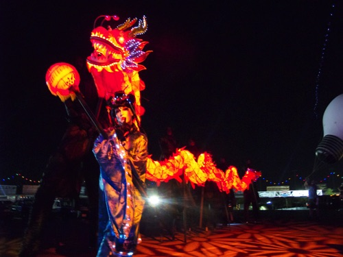 Electric Daisy Carnival LED Dragon Procession