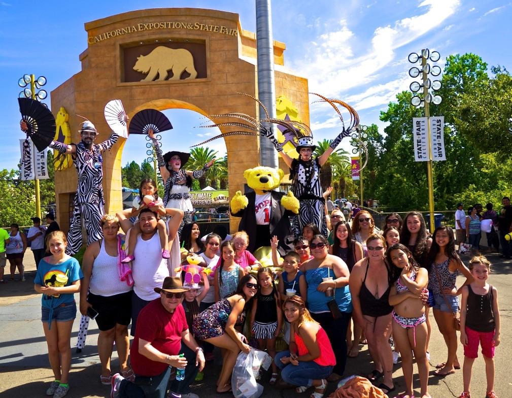 California State Fair   Stilt Circus