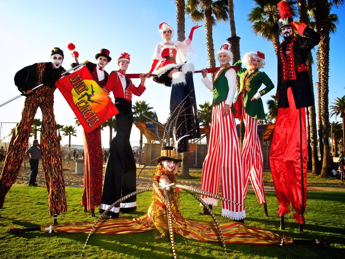 Christmas Stilt Circus