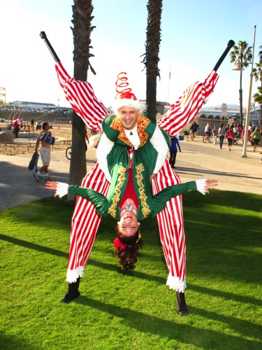 Candy Cane Beach Acro~Stilting