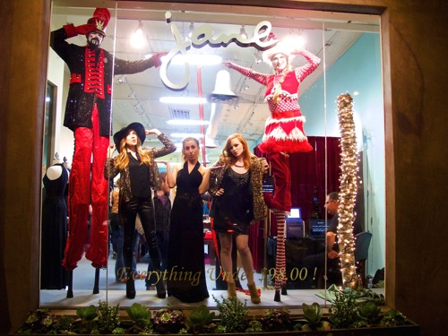 Double Height Christmas Window Dressing at Jane