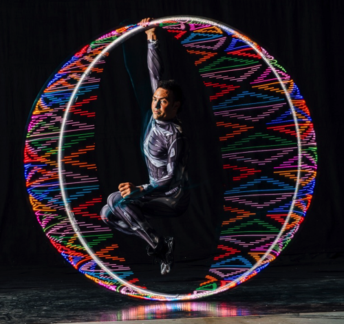 LED Cyr Wheel Hang