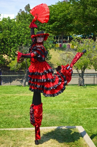 Flamenco Fan Dance Kick