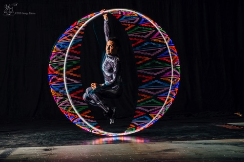 David hangs in LED Cyr Wheel  ~Specialty~
