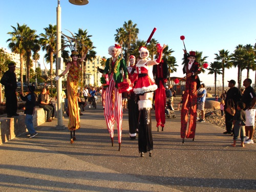 Christmas Santa Monica Beach Parade